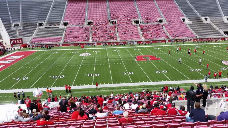 Seating view for Rice-Eccles Stadium Section E37 Row 35 Seat 16