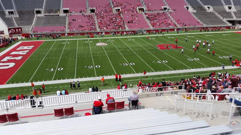 Seating view for Rice-Eccles Stadium Section E38 Row 36 Seat 16