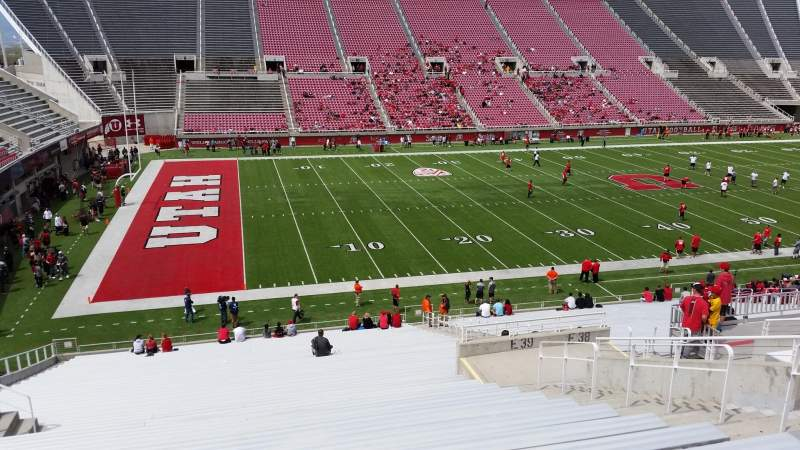 Seating view for Rice-Eccles Stadium Section E39 Row 36 Seat 18