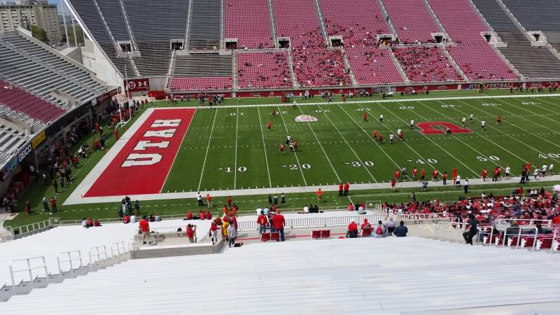 Seating view for Rice-Eccles Stadium Section E38 Row 51 Seat 28