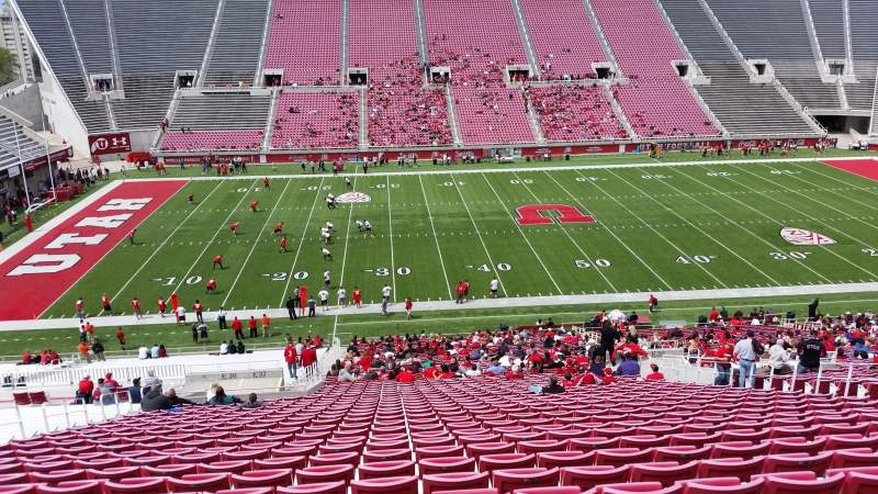 Seating view for Rice-Eccles Stadium Section E37 Row 51 Seat 22