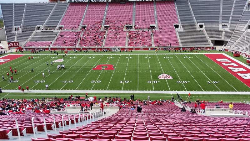 Seating view for Rice-Eccles Stadium Section E35 Row 52 Seat 13