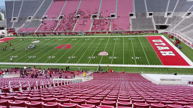 Seating view for Rice-Eccles Stadium Section E34 Row 53 Seat 18