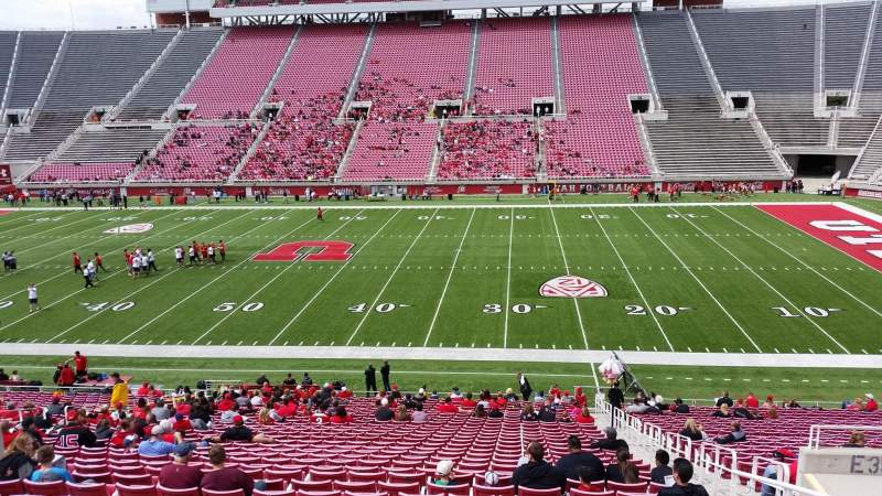 Seating view for Rice-Eccles Stadium Section E35 Row 34 Seat 23