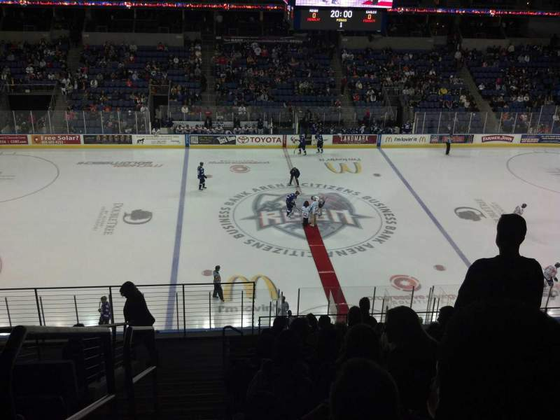 Seating view for Citizens Business Bank Arena Section 204 Row K Seat 23