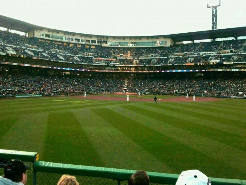 Seating view for PNC Park Section 140 Row E Seat 19
