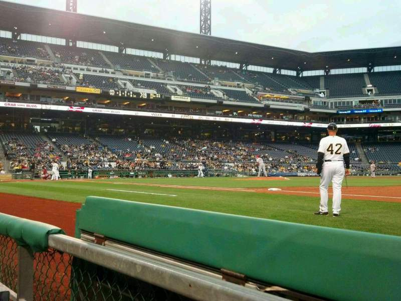 Seating view for PNC Park Section 8 Row A Seat 5
