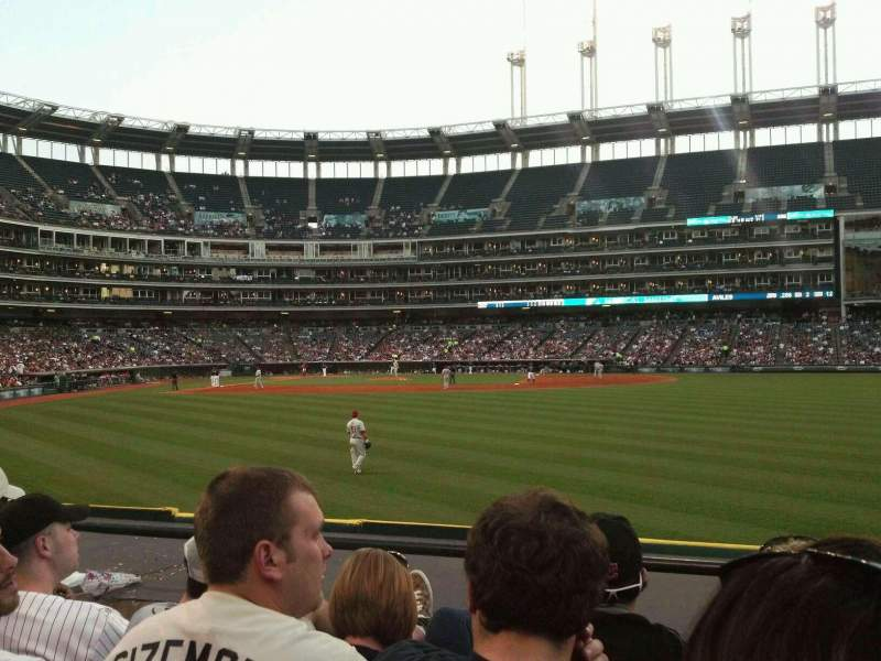 Seating view for Progressive Field Section 109 Row D Seat 7