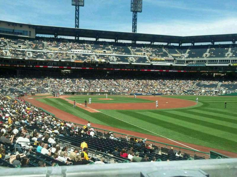 Seating view for PNC Park Section 147 Row A Seat 7