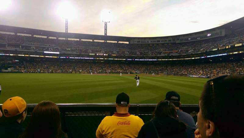Seating view for PNC Park Section 136 Row D Seat 17