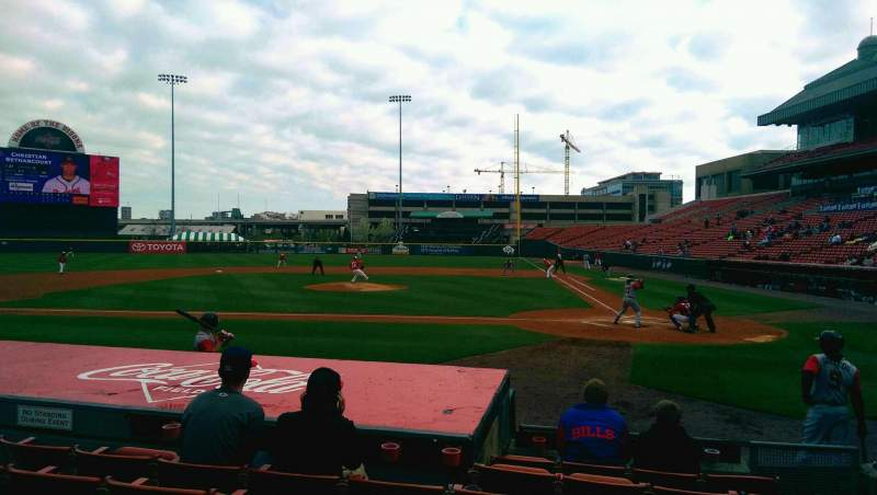 Seating view for Coca-Cola Field Section 109 Row G Seat 4