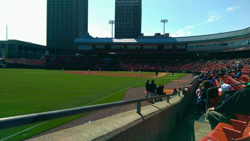 Seating view for Coca-Cola Field Section 123 Row F Seat 11