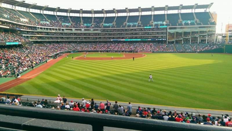 Progressive Field, section: 309, row: A, seat: 9