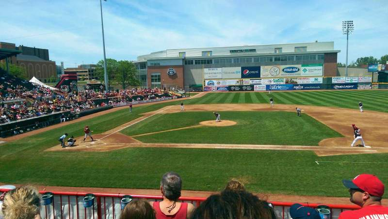 Seating view for UPMC Park Section 203 Row DD Seat 12