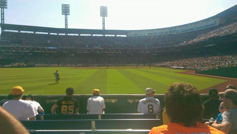Seating view for PNC Park Section 135 Row F Seat 13