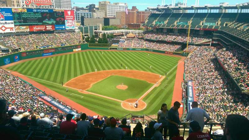 Seating view for Progressive Field Section 556 Row P Seat 4