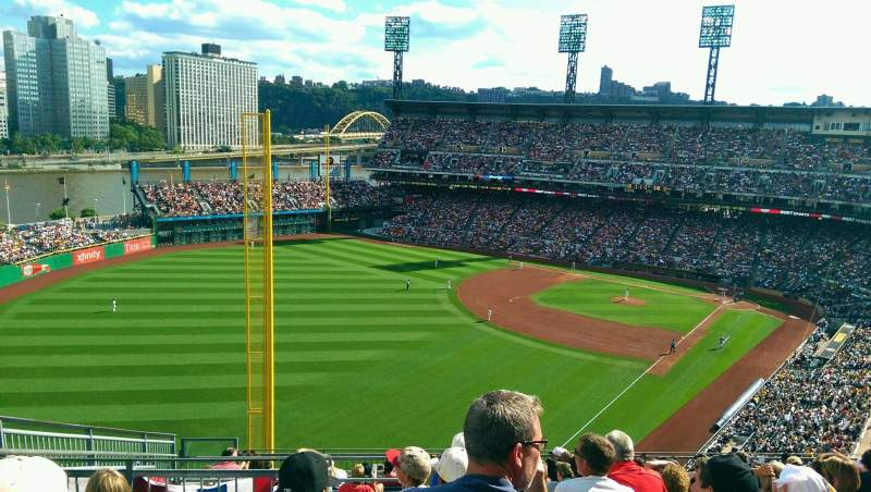 Seating view for PNC Park Section 333 Row N Seat 22