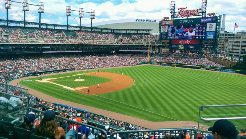 Seating view for Comerica Park Section 214 Row 4 Seat 4