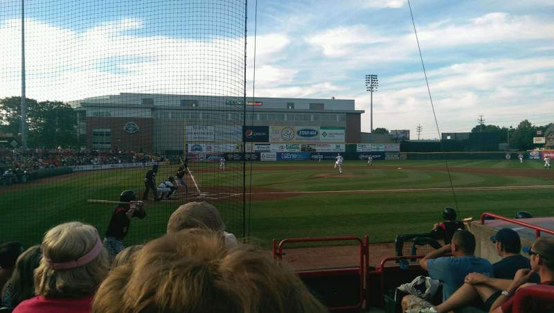 Seating view for UPMC Park Section 108 Row F Seat 1