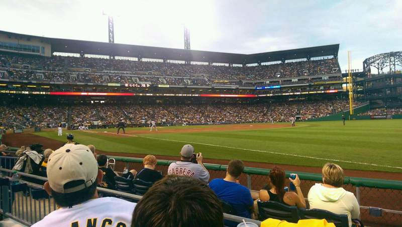 Seating view for PNC Park Section 2 Row E Seat 10