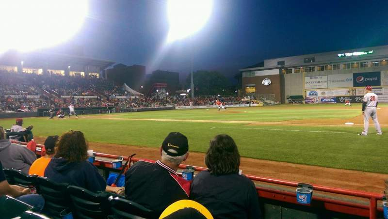 Seating view for UPMC Park Section 105 Row C Seat 6