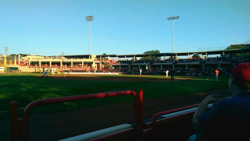 Seating view for UPMC Park Section 117 Row B Seat 1