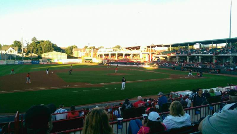 Seating view for UPMC Park Section 211 Row DD Seat 16