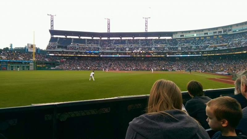 Seating view for PNC Park Section 134 Row C Seat 14