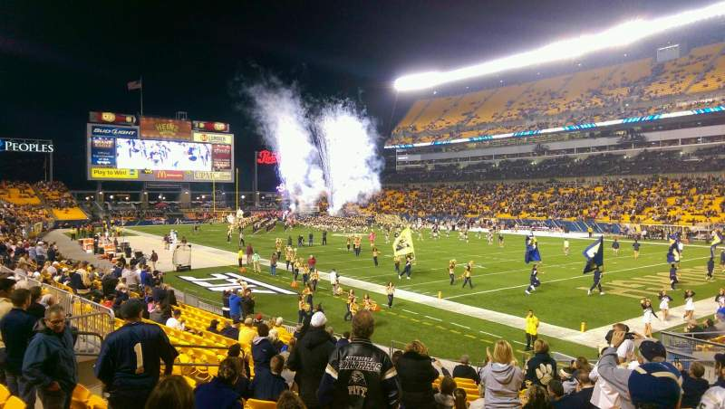 Seating view for Heinz Field Section 118 Row E Seat 8