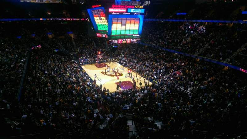 Seating view for Quicken Loans Arena Section 232 Row 2 Seat 3