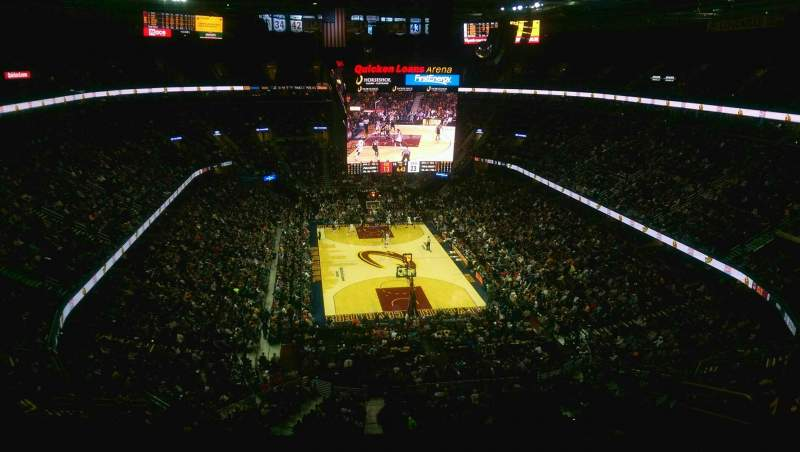 Seating view for Quicken Loans Arena Section 216 Row 8 Seat 8