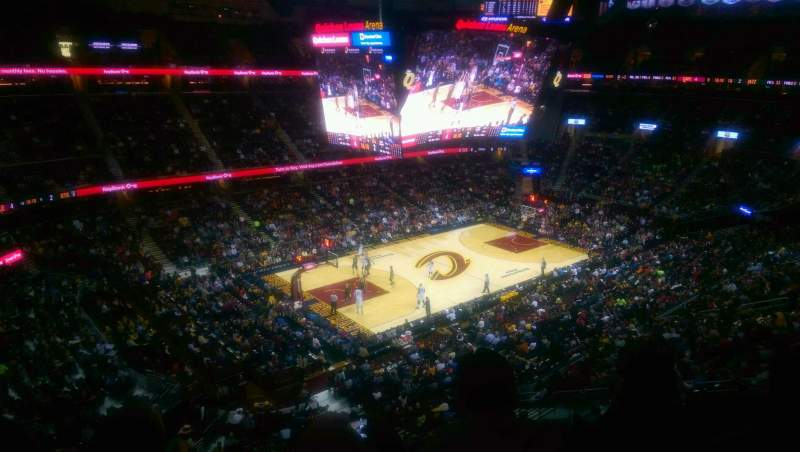 Seating view for Quicken Loans Arena Section 222 Row 3 Seat 2