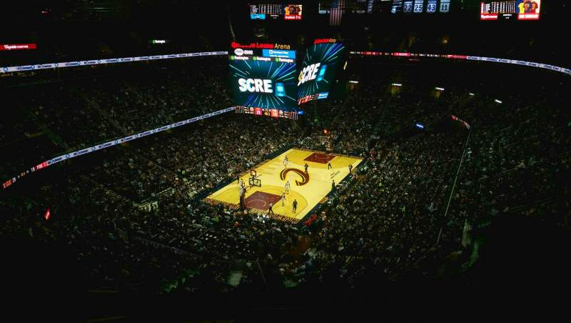 Seating view for Quicken Loans Arena Section 220 Row 11 Seat 2