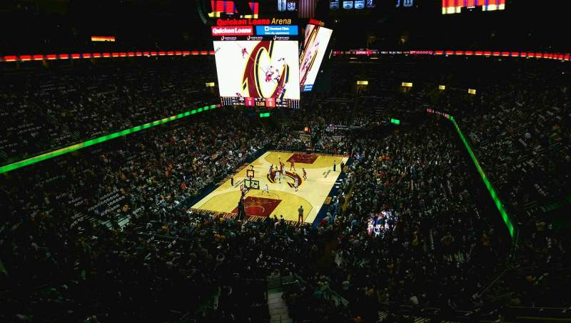 Seating view for Quicken Loans Arena Section 219 Row 2 Seat 6