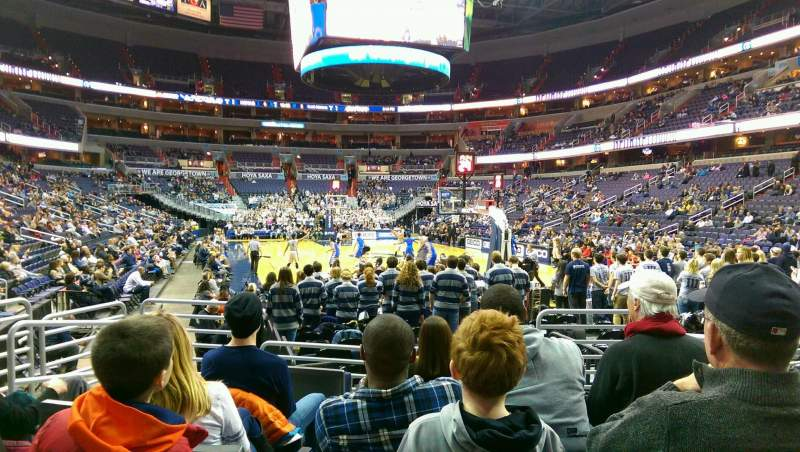 Seating view for Verizon Center Section 115 Row F Seat 6