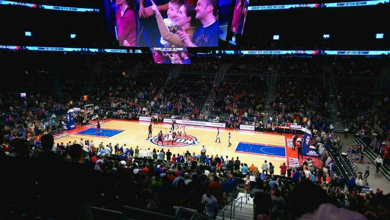 Seating view for The Palace of Auburn Hills Section 125 Row P Seat 18