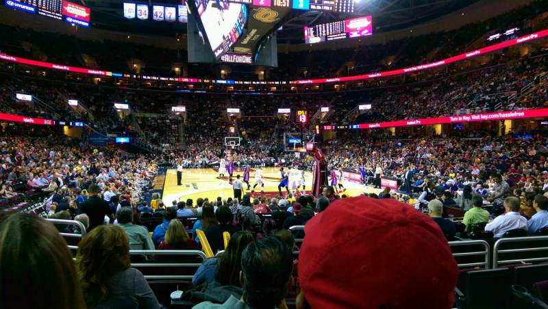 Seating view for Quicken Loans Arena Section 116 Row 5 Seat 5