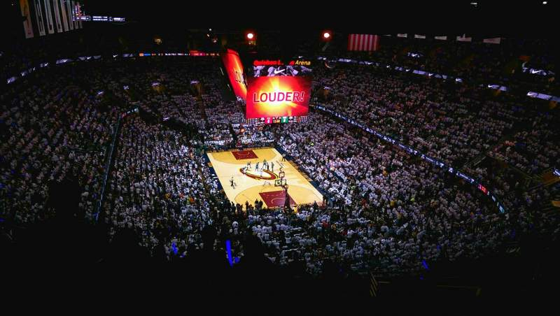 Seating view for Quicken Loans Arena Section 232 Row 16 Seat 22