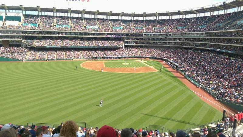 Seating view for Progressive Field Section 181 Row Y Seat 13