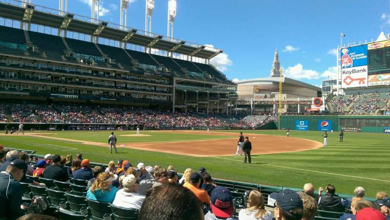 Seating view for Progressive Field Section 134 Row K Seat 8