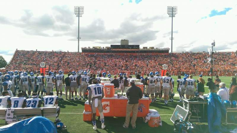 Seating view for Doyt Perry Stadium Section 14L Row 1 Seat 3