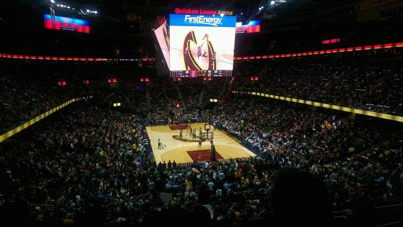 Seating view for Quicken Loans Arena Section 128 Row 28 Seat 12