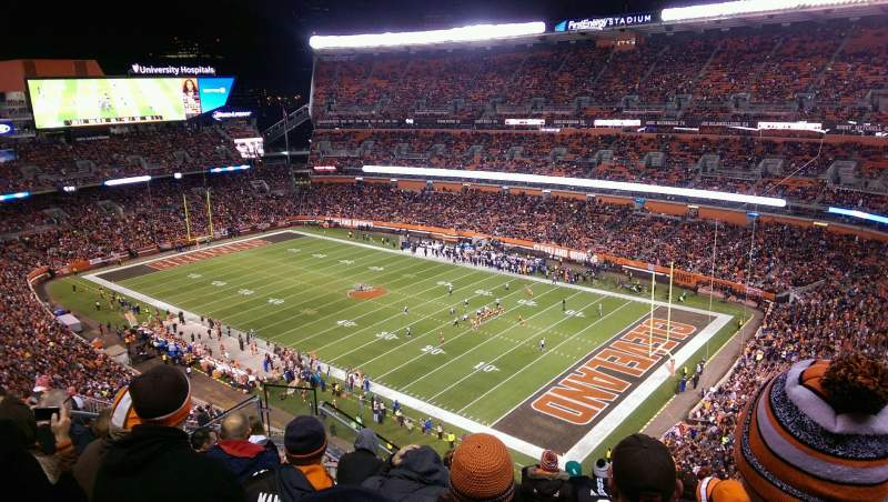 Seating view for FirstEnergy Stadium Section 540 Row 15 Seat 11