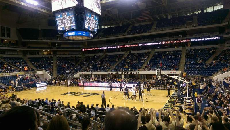 Seating view for Petersen Events Center Section 106 Row H Seat 15
