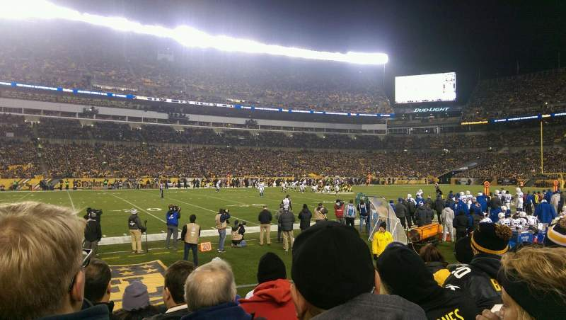 Seating view for Heinz Field Section 108 Row E Seat 17