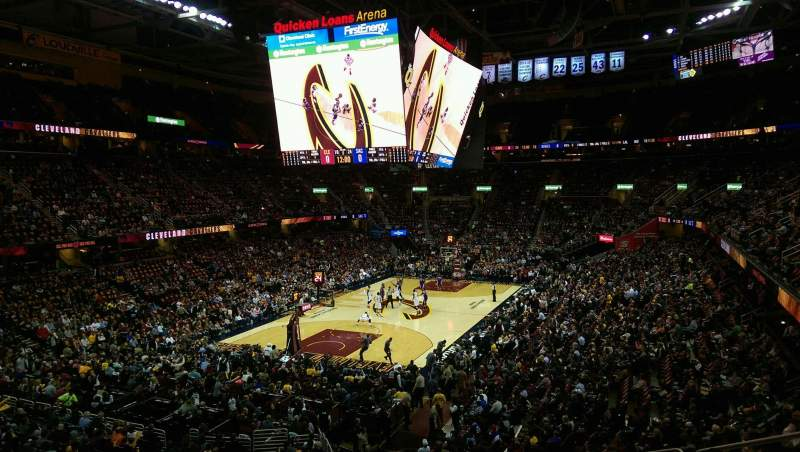 Seating view for Quicken Loans Arena Section 120 Row 23 Seat 3