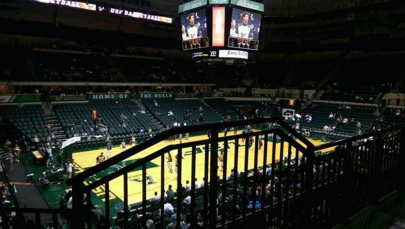 Seating view for USF Sun Dome Section 216 Row O Seat 1