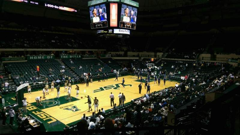 Seating view for USF Sun Dome Section 216 Row O Seat 4