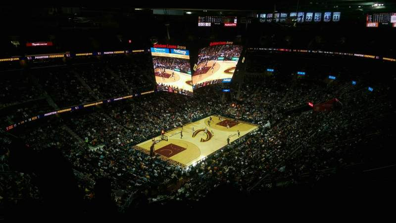 Seating view for Quicken Loans Arena Section 221 Row 13 Seat 6