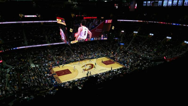 Seating view for Quicken Loans Arena Section 223 Row 13 Seat 14
